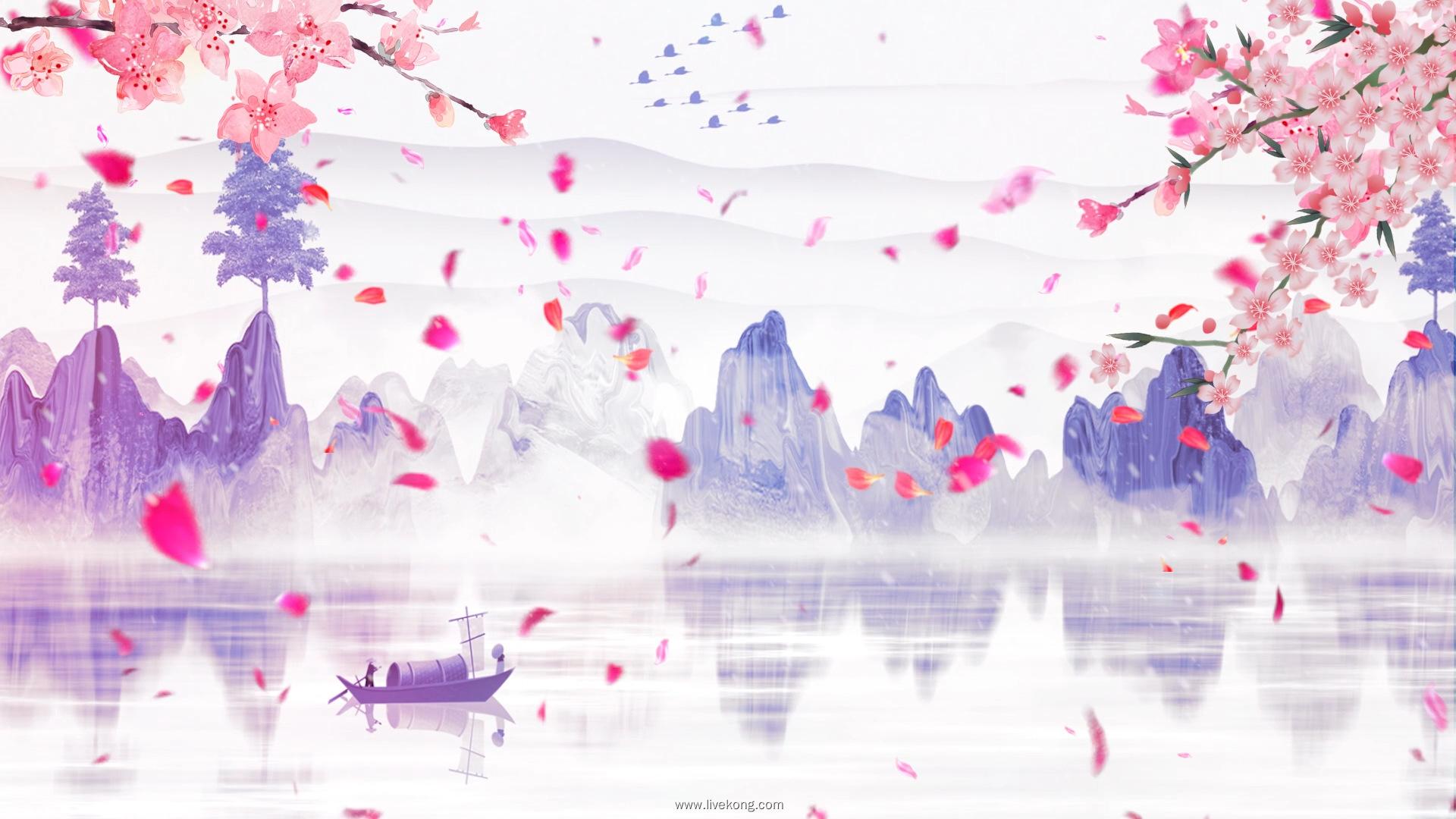 序列 01.00 01 04 11.Still005 - 歌曲女儿情led配乐成品视频背景 水墨山水演出大屏背景